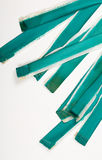 Turquoise Painted Old Rough Canvas Fabric Belts Stock Images