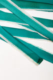 Turquoise Painted Old Rough Canvas Fabric Belts Stock Image
