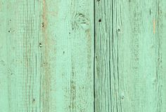 Turquoise painted old wooden wall Stock Image