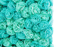 Turquoise paper pom-poms and a place for your text Royalty Free Stock Photo