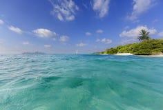 Turquoise paradise. Beautiful tropical  island beach at Maldives Stock Image