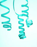 Turquoise Party Streamer Royalty Free Stock Photo