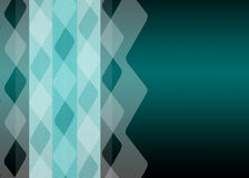 Turquoise pattern. Light turquoise coloured pattern of zigzag lines on a dark turquoise background Royalty Free Stock Images