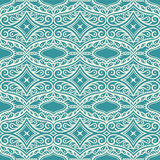 Turquoise pattern with petals and swirls Stock Photo