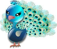 Turquoise peacock Stock Image