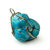 Turquoise pendant Royalty Free Stock Image