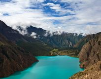 Turquoise Phoksundo lake in Nepal Stock Photos