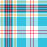 Turquoise plaid check fabric seamless pattern. Vector illustration Royalty Free Stock Image