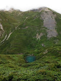 Turquoise Pond in the High Annapurna Himalayas Stock Images