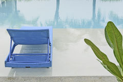 Turquoise Pool Bench Stock Image