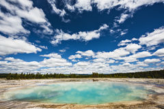 Turquoise Pool, a hot spring, in the Midway Geyser Basin of Yellowstone National Park, Wyoming Royalty Free Stock Photography