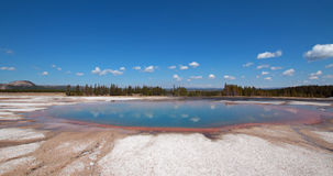 Turquoise Pool in the Midway Geyser Basin in Yellowstone National Park in Wyoming Royalty Free Stock Photos