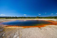 Turquoise Pool,Near Grand Prismatic Spring in yellowstone USA Royalty Free Stock Photos