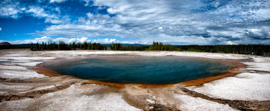 Turquoise pool Yellowstone. Turquoise pool hot spring yellowstone national park Stock Photography