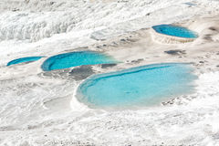 Turquoise pools, Pamukkale Stock Images
