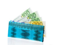 Turquoise purse Stock Photos