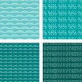Turquoise réglée de configuration sans joint de griffonnage Photos stock