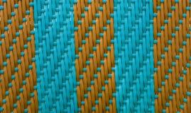 Turquoise rayée d'armure avec le brun Photo stock