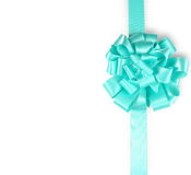 Turquoise ribbon. Christmas. Turquoise ribbon on a white background Royalty Free Stock Image
