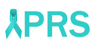 Turquoise Ribbon PRS concept Royalty Free Stock Photo
