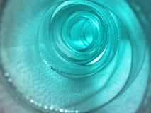 Turquoise ribbon tunnel Royalty Free Stock Photo
