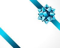 Turquoise ribbons and bow Stock Images