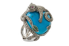 Turquoise ring Royalty Free Stock Images
