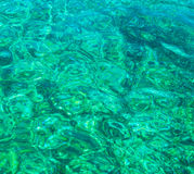 Turquoise rippled water Stock Photo