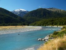 Turquoise river. In new zealand Stock Photos