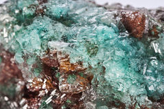 Turquoise Rosasite crystals Stock Images