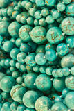Turquoise round beads background Royalty Free Stock Photos