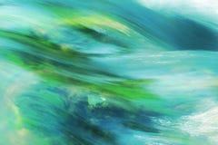 Turquoise running water Stock Photo