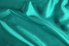 Turquoise Satin Stock Photo