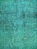 Turquoise Screen Pattern. A turquoise, vintage cloth book cover with a heavy sceen pattern and grunge background textures Stock Photography