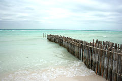 Turquoise sea. View of the sea on Isla de Mujeres, Mexico Royalty Free Stock Image