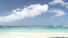 Turquoise sea beach, Boracay island. Turquoise sea beach, Philippines, Boracay island stock video