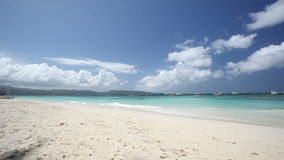 Turquoise sea beach, Boracay island. Turquoise sea beach, Philippines, Boracay island stock footage