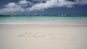 Turquoise sea beach, Boracay island. Turquoise sea beach, Philippines, Boracay island stock video footage