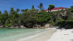 Turquoise sea beach. Philippines, Boracay island stock footage
