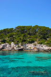 Turquoise Sea in Cala Caldana Menorca Spain Stock Photography