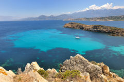 Turquoise sea in Corsica Stock Photo