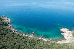 Turquoise sea of Corsica, France Royalty Free Stock Image