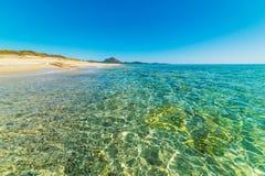 Turquoise sea in Costa Rei Stock Photos
