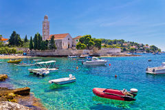 Turquoise sea of Hvar island Stock Image