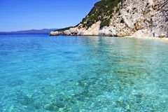 Turquoise sea Ionian islands Greece Royalty Free Stock Photos