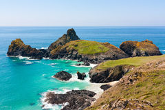 Turquoise sea at Kynance Cove Stock Image