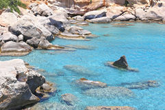 Turquoise sea at Petrified forest Peloponnese Greece Stock Photos