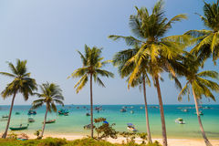 Turquoise sea on Phu Quoc Stock Image