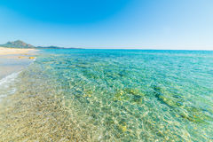Turquoise sea in Piscina Rei Royalty Free Stock Images