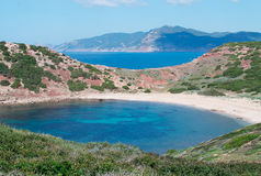 Turquoise sea. In Porticciolo, Sardinia Stock Photos